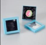 Zdjęcie - Błękitne pudełko z okienkiem 9x9cm
