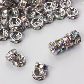 Zdjęcie - Przekładka rondelek z kryształkami crystal ab 6mm