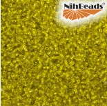 Zdjęcie - Koraliki NihBeads 12/0 Silver-Lined Lemon