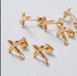 Zdjęcie - Sztyfty gwiazdy z podwieszeniem ag925 złoty