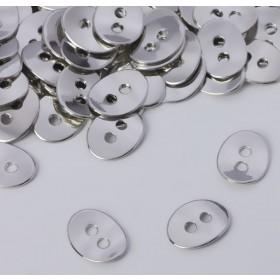 Zdjęcie - Koralik z dwoma dziurkami koloru srebrnego 13,5x10,5mm