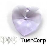 Zdjęcie - Swarovski heart 28mm violet