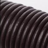 Zdjęcie - Rzemień naturalny gorzka czekolada 6mm