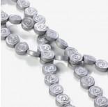 Zdjęcie - Hematyt platerowany płaskie róże matowe srebrne 10x4mm