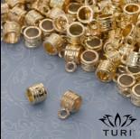 Zdjęcie - Krawatka do rzemieni z labiryntem w kolorze złotym 4.5mm