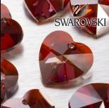 Zdjęcie - Swarovski heart 28 mm red magma