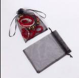 Zdjęcie - Woreczek z organzy do biżuterii 13x18cm czarny