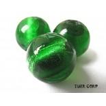 Zdjęcie - Szkło weneckie kulka zielona 14mm