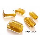 Zdjęcie - Szkło weneckie prostokąt złoty 12x18mm