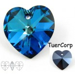 Zdjęcie - Swarovski heart 18mm bermuda blue