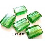 Zdjęcie - Szkło weneckie prostokąt zielony 12x18mm