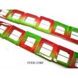 Zdjęcie - Masa perłowa kwadrat zielono- czerwony 25mm