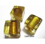 Zdjęcie - Szkło weneckie kostka złota 15mm