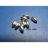 Zdjęcie - Srebrne oliwki gładkie długie, Ag925 7,3mm
