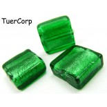 Zdjęcie - Szkło weneckie kwadrat zielony 15mm