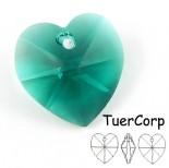 Zdjęcie - Swarovski heart 18mm emerald