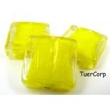 Zdjęcie - Szkło weneckie kwadrat żółty 20mm