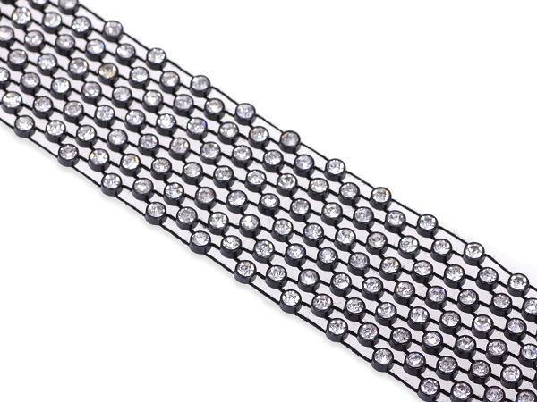 W Mega Taśma z kryształkami czarna 20x3cm : z kryształkami : Koraliki i CV83